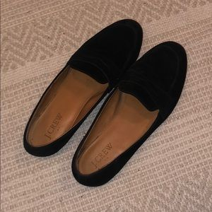 Jcrew black suede loafers size 7.5